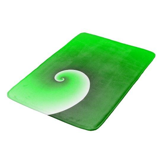 Green Spiral Gradient Bath Mat