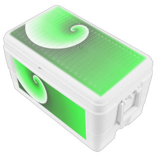 Green Spiral Gradient Chest Cooler
