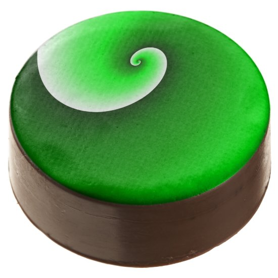 Green Spiral Gradient Chocolate Covered Oreo
