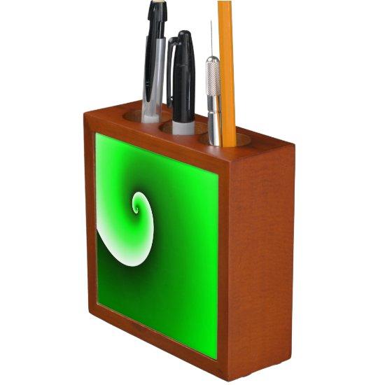 Green Spiral Gradient Desk Organizer