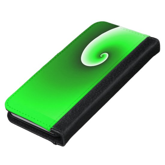 Green Spiral Gradient iPhone 6/6s Wallet Case