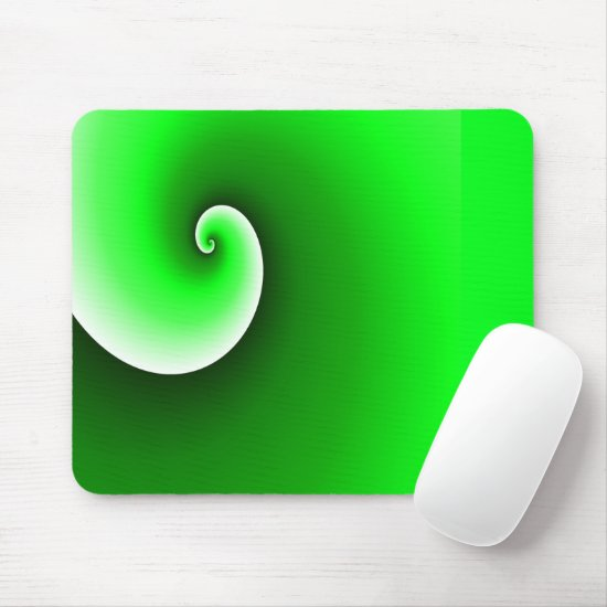 Green Spiral Gradient Mouse Pad