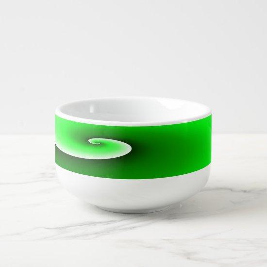 Green Spiral Gradient Soup Mug