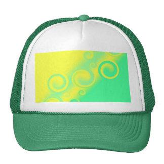 green spiral Hat