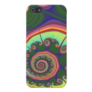 Green Spiral Jewel Fractal Covers For iPhone 5