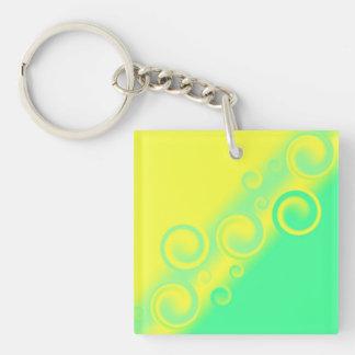 green spiral Key Chain
