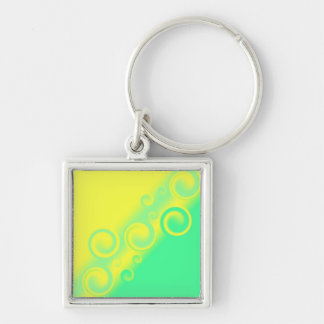 green spiral Keychain