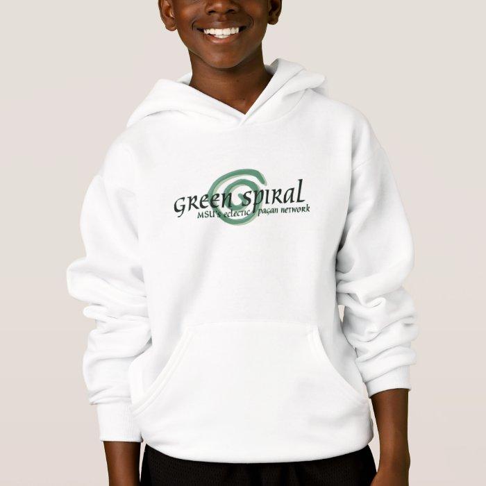 Green Spiral Kids' Hoodie