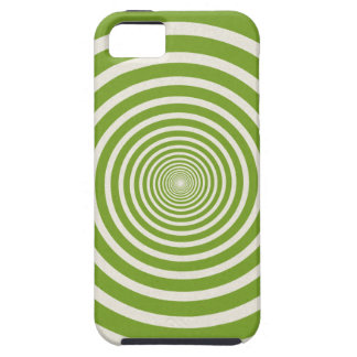 Green spiral optical illusion iPhone SE/5/5s case