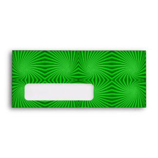 Green spiral pattern envelope