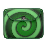 Green Spiral Personal Mac Book Pro Sleeve Sleeves For MacBook Pro