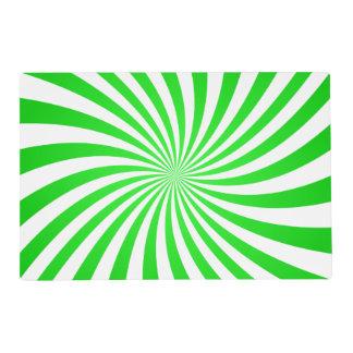 Green spiral placemat