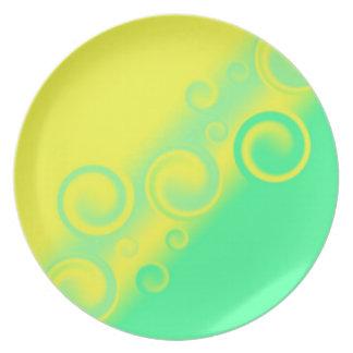 green spiral Plate