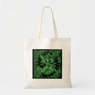 Green Spiral Smoke Teddy Bear Tote Bag