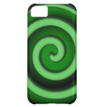 Green Spiral Zone Cover For iPhone 5C