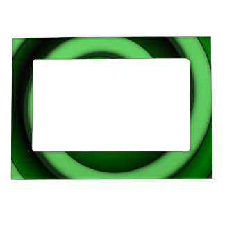 Green Spiral Zone Magnetic Photo Frame