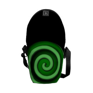Green Spiral Zone Messenger Bag