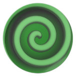 Green Spiral Zone Serving Plate
