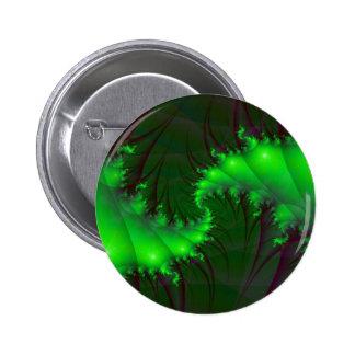 Green Spirals Button