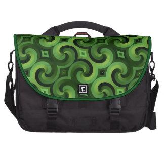 GREEN SPIRALS BAG FOR LAPTOP