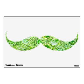 Green Spirals Mustache Wall Decor