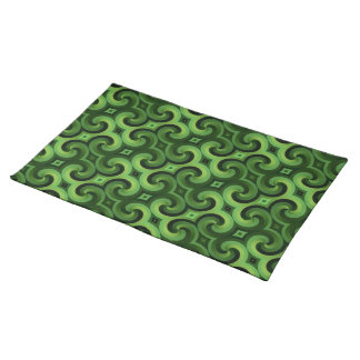 GREEN SPIRALS Placemat Cloth Placemat