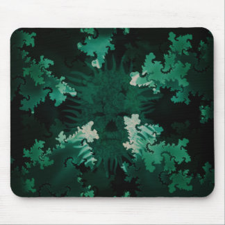 Green Spirit in Fractals Mouse Pad