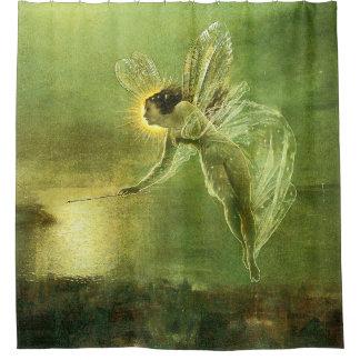 Beautiful Green Spirit Of The Night Fairy Shower Curtain