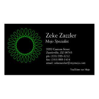 Green Spirograph Business Card
