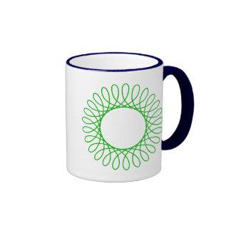 Green Spirograph Mug