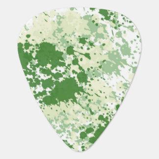 Green Splash Guitar Pick
