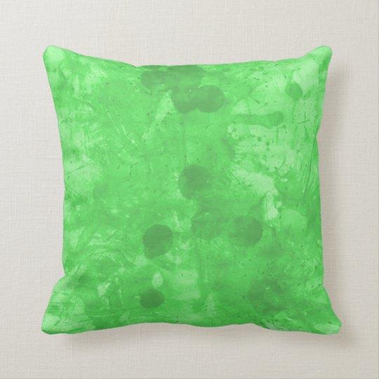 GREEN SPLASHES by SHARON SHARPE Throw Pillow