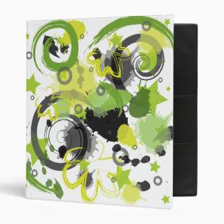 Green Splatter Binder