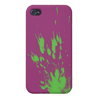 green splatter covers for iPhone 4