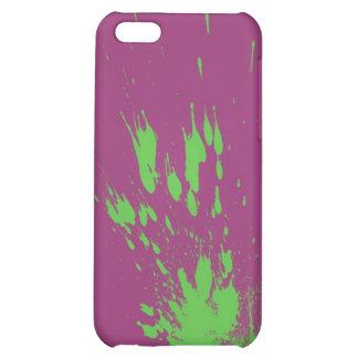 green splatter iPhone 5C cover