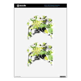Green Splatter Xbox 360 Controller Decal