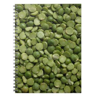 Green split peas spiral notebook