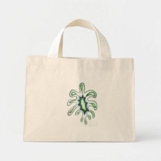 Green splotch mini tote bag