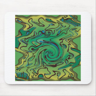 Green splurge mouse pad