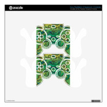 Green splurge PS3 controller decal