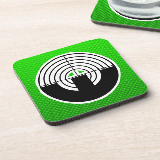 Green Sport Shooting Drink Coaster