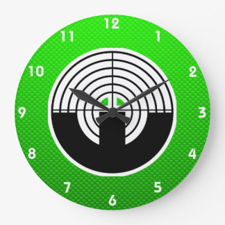 Green Sport Shooting Large Clock
