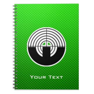 Green Sport Shooting Spiral Notebook