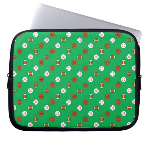 Green Sports Laptop Computer Sleeves