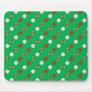 Green Sports Mouse Pad
