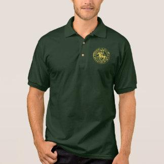 Green sports shirt forest seal gilded Templar
