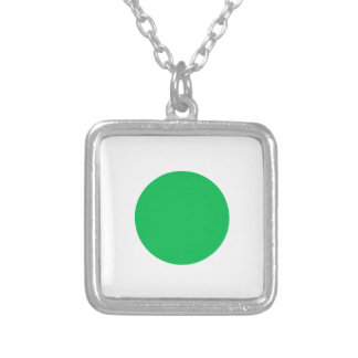 Green Spot Silver Plated Necklace
