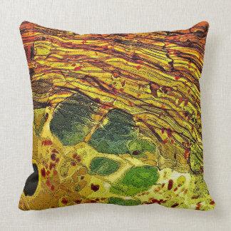 Green Spots in Glass Throw Pillow
