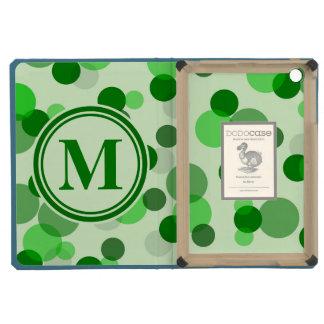 Green Spots Monogram iPad Mini Retina Cover