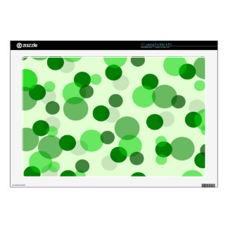 Green Spots Pattern Decals For Laptops